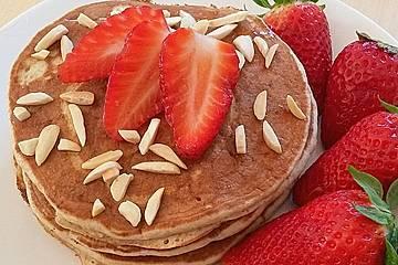 Protein-Pancakes mit Himbeeren