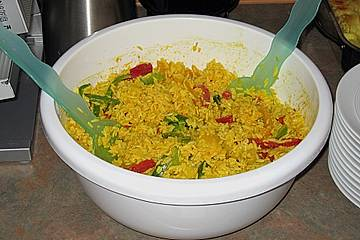 Indonesischer Reissalat
