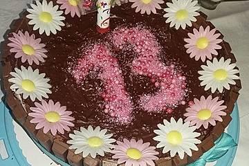Erdbeer-Schoko-Torte zum Geburtstag