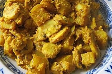 Bengalisches Pilz-Kartoffel Curry