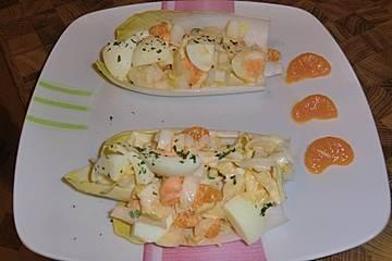 Eiersalat mit Curry-Mandarinen-Dressing