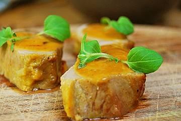 In Honig marinierte Filetspitzen