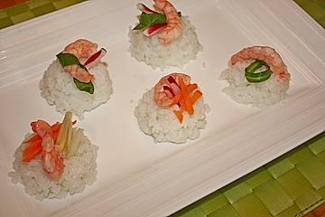 Nigiri - Sushi mit Garnelen