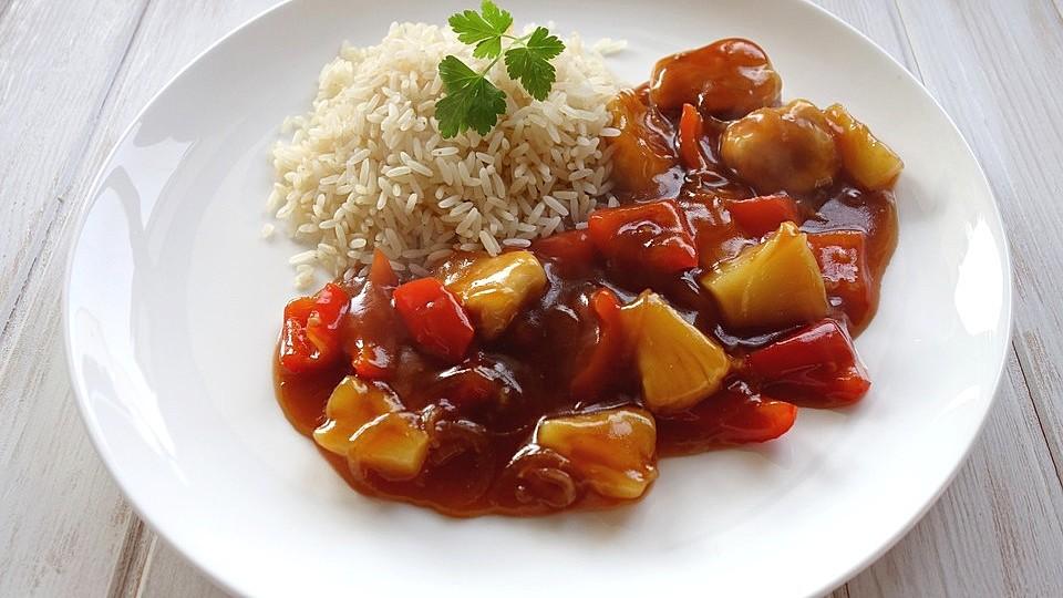 Hähnchen süßsauer wie im Chinarestaurant von NatuerlichLecker | Chefkoch
