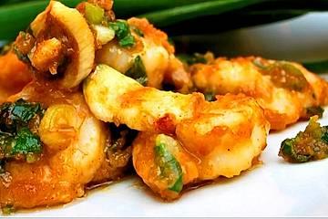 Scharfe Saigon Shrimps