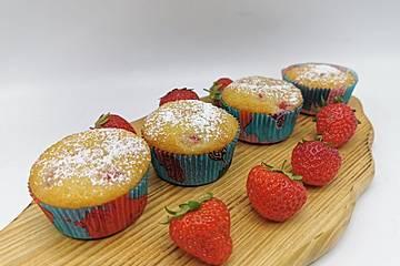Erdbeer-Limetten-Muffins