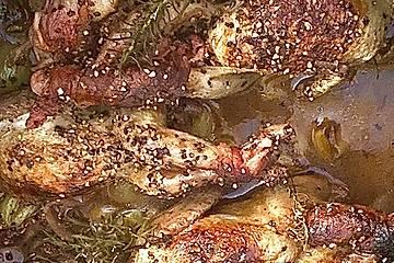 Wachteln mit Trauben in Banyuls