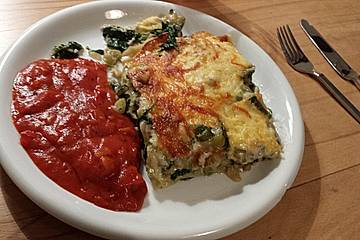 Spinat zucchini lasagne rezept