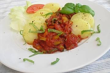 Zucchinipfanne Toskana mit Speck
