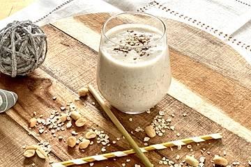 Frühstücks-Hafer-Leinsamen-Mix
