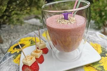 Erdbeer-Vanillejoghurt-Smoothie