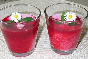 Himbeer-Vanillejoghurt-Smoothie
