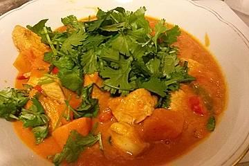 Blutorangen-Curry mit Süßkartoffeln