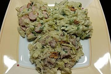 Weißkohl mit Fenchel und Walnüssen, low carb