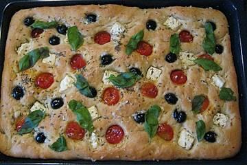 Selbstgemachtes Italienisches Focaccia Brot