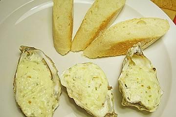 Austern, überbacken mit Estragon