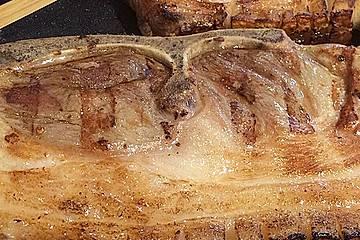 Gepökelte Holzfällersteaks vom Grill