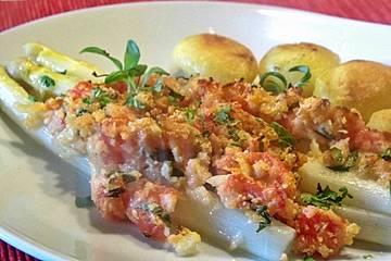 Spargel mit Parmesan-Kruste