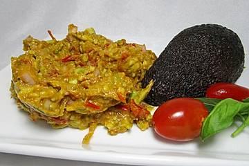 Avocado Brotaufstrich mit Ajvar