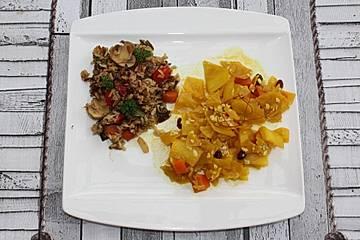 Weißkohl-Curry mit Mandeln