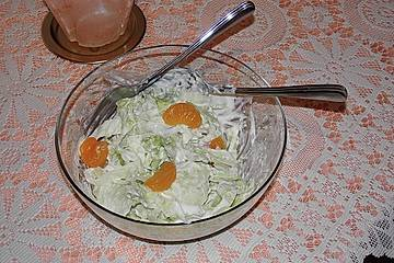 Chinakohlsalat mit Mandarinen Low Carb