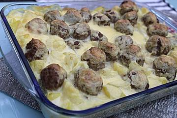 Blumenkohl - Kartoffel - Auflauf mit Senfhollandaise