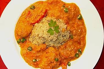 Indisches Chickencurry mit Tomaten und Kokos