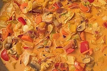 Cremiges Gemüsecurry