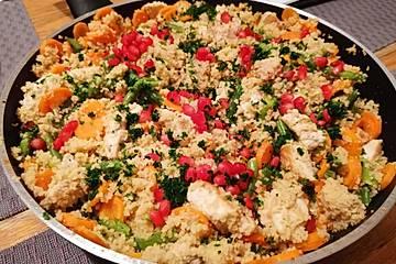 Couscouspfanne mit Pute und Gemüse