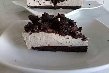 Gesunder Oreo-Kuchen mit viel Protein ohne Mehl