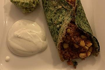 Burritos mit Hackfleischfüllung Low-Carb