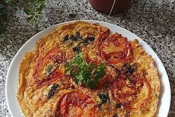 Spinat-Tomaten-Omelett