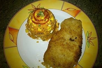 Couscouspfanne mit Paprika, Tomate und Feta