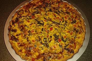 Mangold-Paprika-Quiche