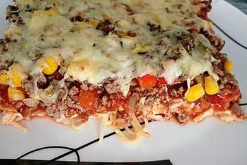 Rezept fur spaghetti pizza mit hackfleisch
