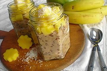 Oatmeal mit Mango und Mandeln
