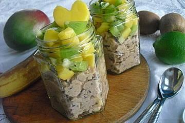Oatmeal mit Mango und Kiwi