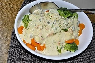 Gemüse mit Kapern-Bärlauch-Mayonnaise
