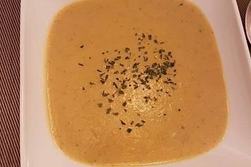 Kohlrabi-Zucchini-Kokossuppe