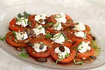 Tomate-Ziegenkäse