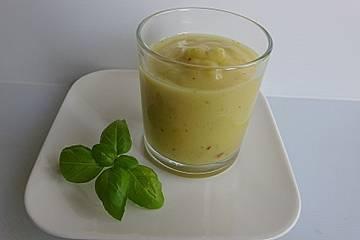 Mango-Zitronen-Basilikum-Smoothie