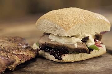 Secreto-Ibérico-Sandwich vom Grill