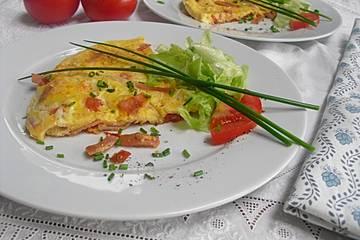 Tomaten-Schinken-Omelette