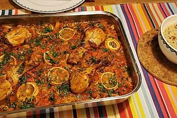 Marokkanisches Hühnchen mit Blumenkohl