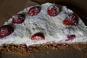 Erdbeer-Kokos-Cheescake