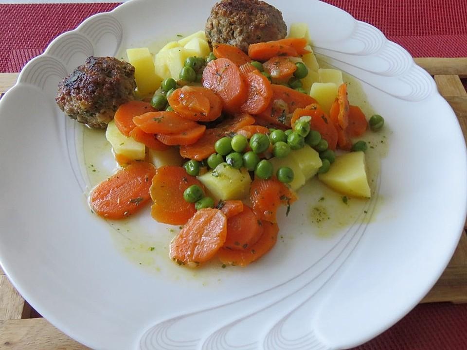 Erbsen Möhren Gemüse