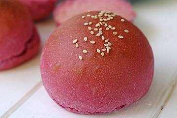 Pinke Hamburger Brötchen