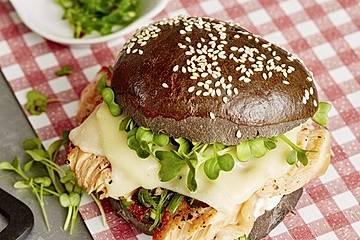 Chefkoch Pulled Teriyaki-Lachs-Burger