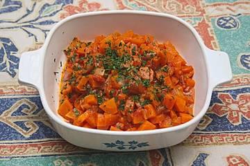 Karottengemüse etwas verschärft