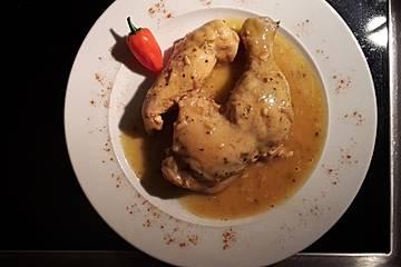 "Hühnchen in Zitrusfrüchtesaft - ""Pollo Pibil"" aus Yucatán"